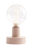 Bord/Vegglampe Metall Lys rosa