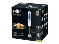 Braun Multiquick 3 MQ3035WH Sauce - Håndmikser - 700 W - hvit/blå