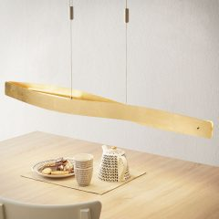 Buet LED-pendellampe Lian i gullutførelse