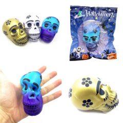 Chameleon Squishy Skull Skeleton Head Halloween Decor