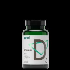 D3 Vitamin D, 120 kapsler