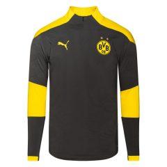 Dortmund Treningsgenser 1/4 Glidelås - Grå/Gul