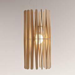 Fabbian Stick hengelampe, sylinderformet, 33 cm