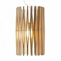 Fabbian Stick hengelampe, sylinderformet, 43 cm