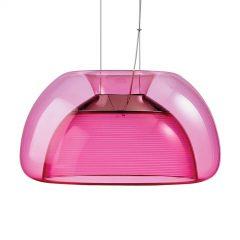 Fargerik LED-hengelampe Aurelia, rosa