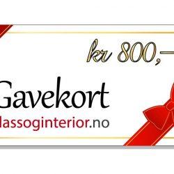 Gavekort kr 800,-