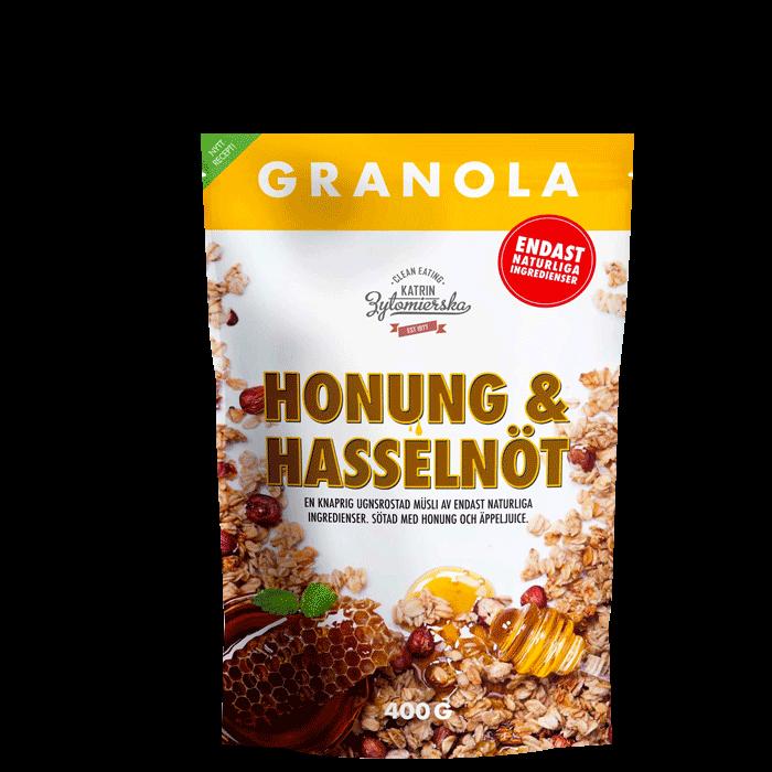 Granola Hasselnøtt & Honning, 400 g