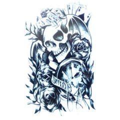 Halloween Skeleton Temporary Tattoo Sticker