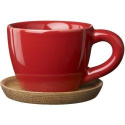 Höganäs Keramik Espressokopp 10 cl med Trefat Eplerød Blank