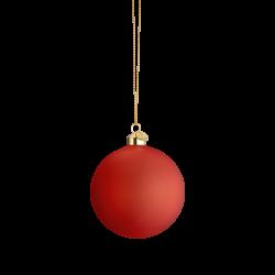 Holmegaard Souvenir Julekule Rød