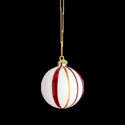 Holmegaard Souvenir Julekule Stripet Rød