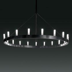 Imponerende lysekrone Chandelier, svart