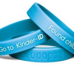 KinderID Sikkerhetsarmbånd, Blue
