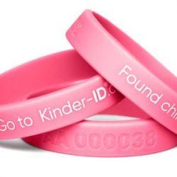 KinderID Sikkerhetsarmbånd, Pink