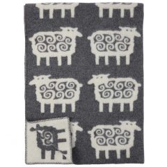 Klippan Pledd Sheep Grå 130x180 cm. Kommer på lager 14/12.