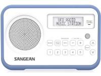 Kuffertradio Sangean DPR-67 DAB+, FM Batteriopladningsfunktion Hvid, Blå