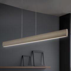 LED-hengelampe Runa, bronse, lengde 92 cm