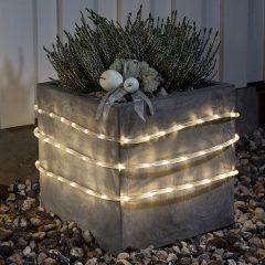 LED-lysslange 6 m m. lyssensor til utebruk, 96 lys