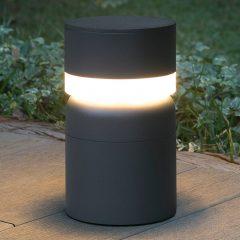 LED-sokkellampe Sete, mørkegrå
