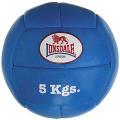 LONSDALE Medisinball 5 kg lær blå