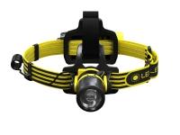 Led Lenser EXH8, Hodebåndslommelykt, Svart, Gult, IP68, 180 lm, 120 m, 40 timer