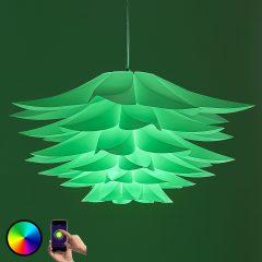 Lindby Smart pendellampe Lavinja med RGB-LED-pære
