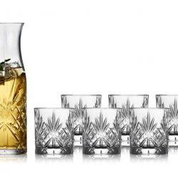 Lyngby Glass Krystall Melodia Karaffelsett 7 deler Kommer 11/20