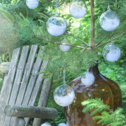 Magnor Himmel På Jord Julekule Sølv m / Store Stjerner 120 mm