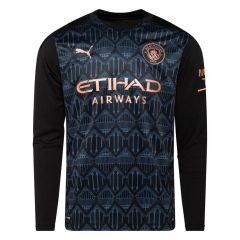 Manchester City Bortedrakt 2020/21 Langermet Barn