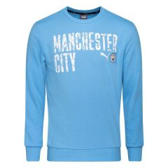 Manchester City Genser FtblCore Wording - Blå/Navy