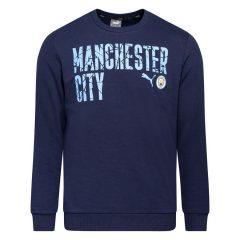 Manchester City Genser FtblCore Wording - Navy/Blå Barn