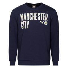 Manchester City Genser FtblCore Wording - Navy/Hvit