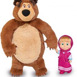 Masha og Mishka Figurer Plysjbjørn + Dukke