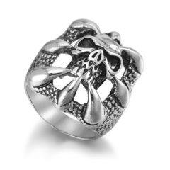 Men's Punk Skull Claw Ring