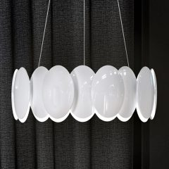 Milan Obolo – rund LED-pendellampe – 42,9 cm