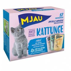 Mjau Multi våtfôr i gele kattunge 12pk