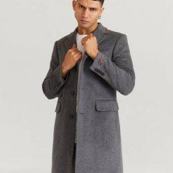 Morris Frakk Wesley Wool Cashmere Coat Grå