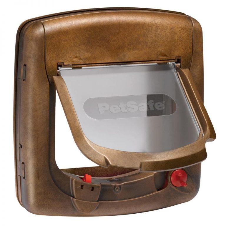 PetSafe Magnetisk 4-veis katteluke Deluxe 420 brun 5006