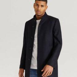 Pour Frakk Stand Up Collar Coat Blå