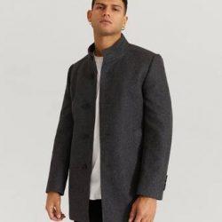 Pour Frakk Stand Up Collar Coat Grå