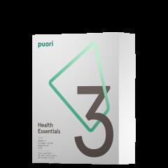 Puori 3 - Omega-3, Vitamin D, Magnesium, 30 doser