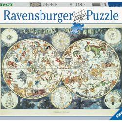 Puslespill 1500 Verdenskart Dyr Ravensburger