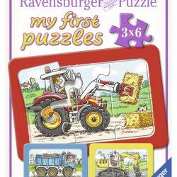 Puslespill 3X6 Store kjøretøy Mitt Første Ravensbu