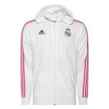Real Madrid Hettegenser 3-Stripes FZ - Hvit/Navy