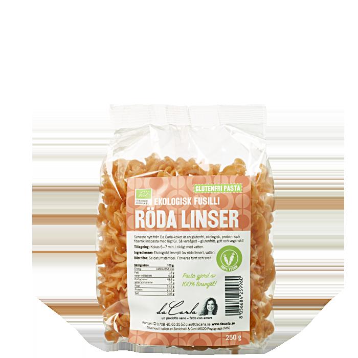 Røde Linser Økologisk Casarecce, 250 g