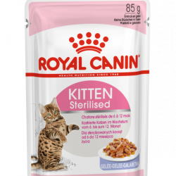 Royal Canin Kitten Sterilised Jelly, 12 x 85g
