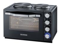 SEVERIN TO 2065 - Elektrisk ovn med varmeplater - 30 liter - 2500 W - svart
