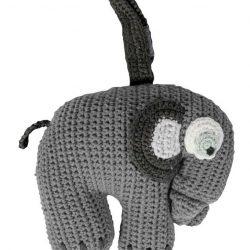 Sebra Heklet Spilledåse Elefanten Fanto, Grå