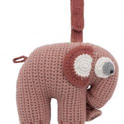 Sebra Heklet Spilledåse Elefanten Fanto, Rosa