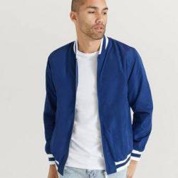 Studio Total Bomberjakke Varsity Jacket Blå